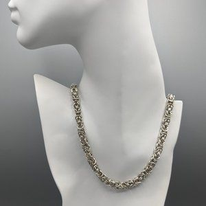Alfani Silver Tone Byzantine Chain Necklace